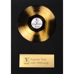 Goldene 12inch Schallplatte Standard